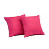 "Set of 2 Diamonde/ Strawberry: Faux silk quilted cushion cover (16"" * 16"")"