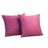 "Set of 2 Diamonde/ Regal Purple: Polyester quilted cushion cover (16"" * 16"")"