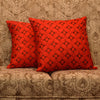 "Set of 2 Diamonde/ Regal Red : Polyester quilted cushion cover (16"" * 16"")"