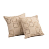 "Set of 2 Blocks/ Smokey Taupe: Polyester quilted cushion cover (16"" * 16"")"