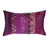 "The Cushion Project Kitsch Melange/ Cappuccinno : Patchwork silk cushion cover (12"" x 20"")"