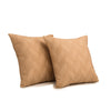 "Set of 2 Meanders/Riviera Sand: Polyester quilted cushion cover (16"" * 16"")"