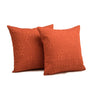 "Set of 2 Ombre Pebbles/ Jalapeno: Embroidered and quilted  cushion cover (16"" * 16"")"