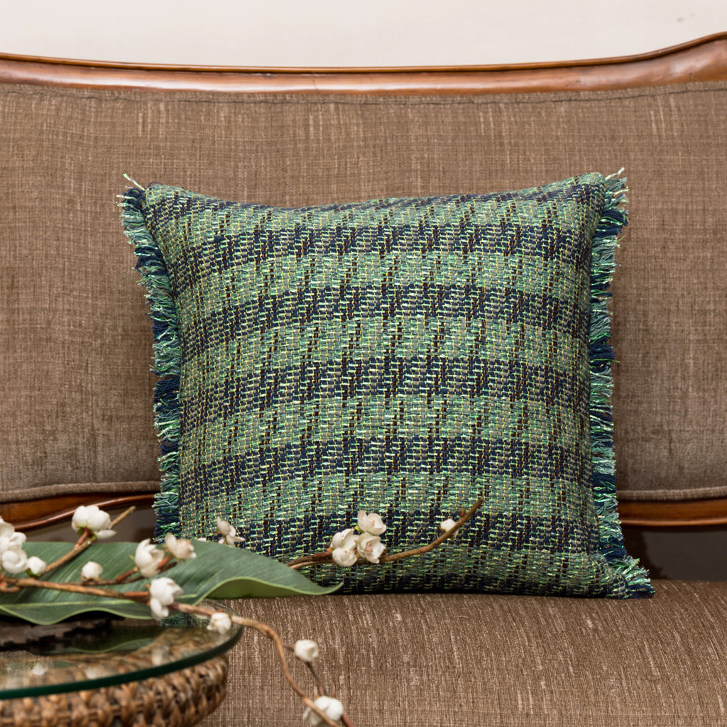 "The Cushion Project Skylline/ Foliage : Woven cushion cover (16"" x 16"")"