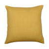 "Rustic/ Feather gold: silk cushion cover (16"" x 16"")"