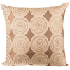 "Banina/ Lime: Faux silk quilted cushion cover (20"" x 20"")"