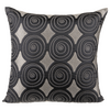 "Banina/ Smokey Taupe: Faux silk quilted cushion cover (20"" x 20"")"