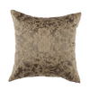 "Metallic Damask/ Riviera Sand: Silk woven cushion cover (18"" x 18"")"