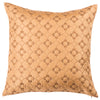 "Diamonde/ Strawberry: Faux silk quilted cushion cover (18"" x 18"")"