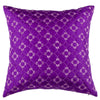 "Diamonde/ Straw: Faux silk quilted cushion cover (18""*18"")"