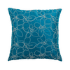 "Merrell/ Checkmate: Hand embroidered silk cushion cover (16"" x 16"")"