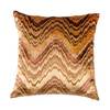 "Circular Kaleidoscope/ Straw: Velvet cushion cover (16"" x 16"")"