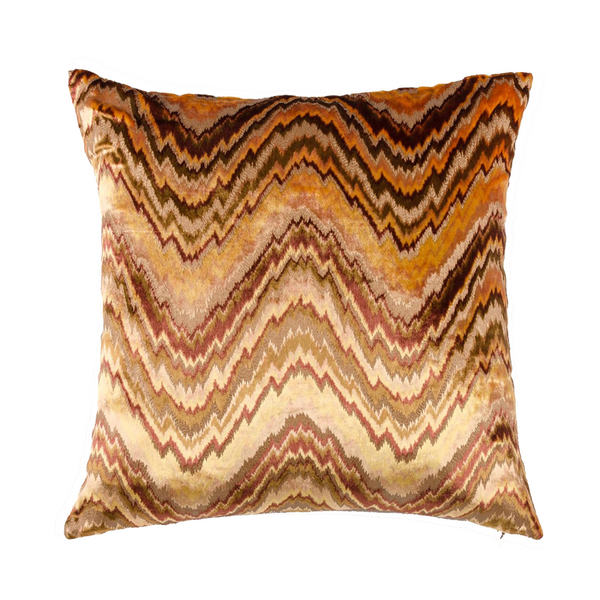 "Circular Kaleidoscope/ Spice: Velvet cushion cover (16""*16"")"
