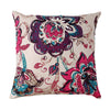 "Painted Suzani / Spice: A traditional trellis hand painted effect cushion cover (16"" x 16"")"