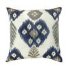 "Ikat Galore / Petunia: Ikat embroidered cushion cover (16"" x 16"")"