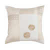 Ivory Patchwork Silk  Designer Cushion Cover | Onset Designs