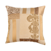 "Kitsch Melange/ Ivory: Patchwork silk cushion cover (16"" x 16"")"