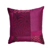 "Kitsch Melange/ Checkmate: Patchwork silk cushion cover (16"" x 16"")"