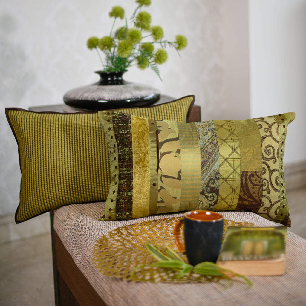 THE CUSHION PROJECT Set of 2  Lime Cushion Covers