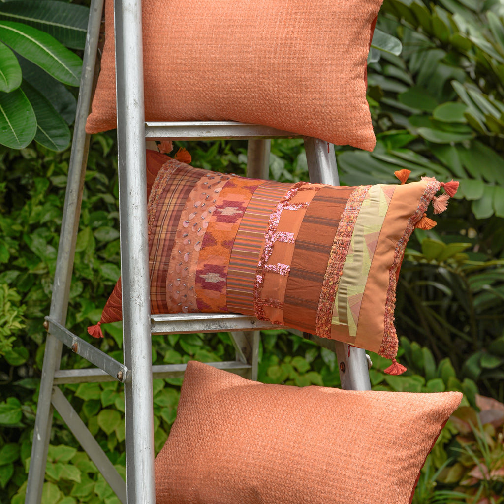 The Cushion Project Set of 3 Apricot Cushion Covers