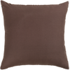 "Grill/ Chocolate Brown: Embroidered and quilted  cushion cover (20"" x 20"")"