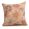 "Flora/ Pink: Printed & Hand Embroidered cushion cover (20""*20"")"