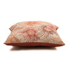 "Onset Flora/ Rust: Printed & Hand Embroidered cushion cover (20""*20"")"