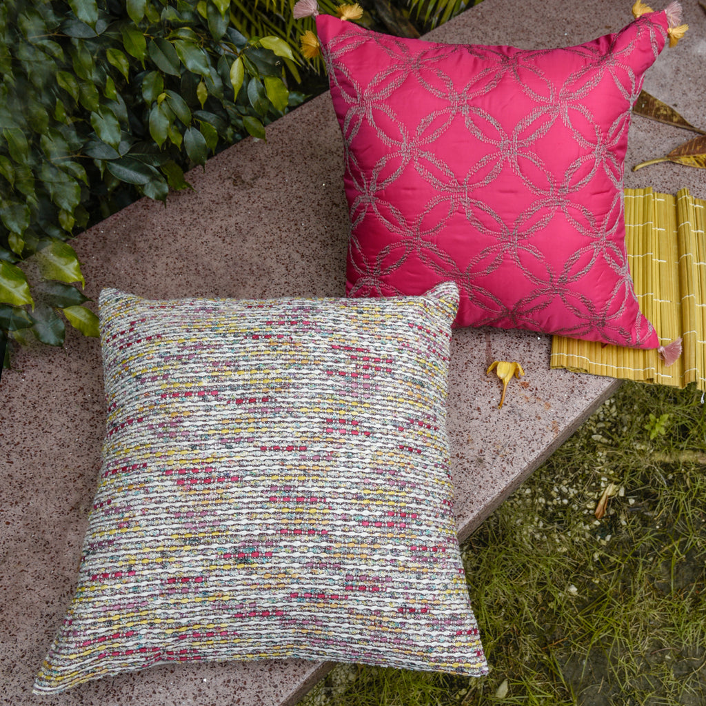 The Cushion Project Set of 2 Pink Fun Cushion Covers
