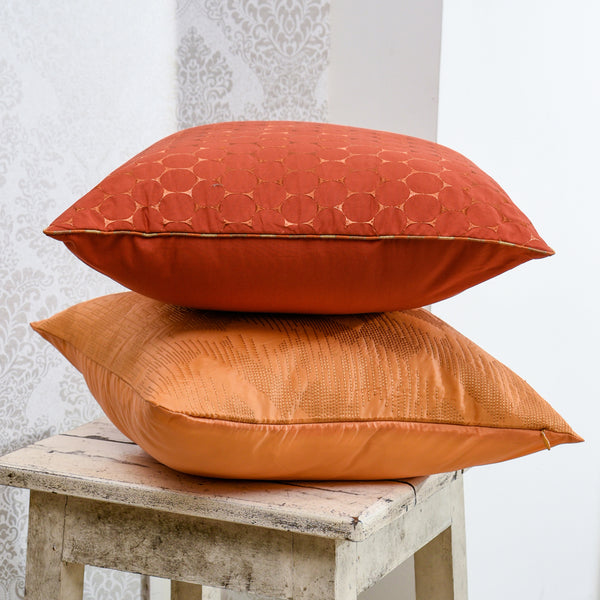 The Cushion Project Set of 2 Apricot  Cushion Covers