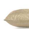 "Rose abode/ Cream Beige: Embroidered faux silk cushion cover (18"" x 18"")"