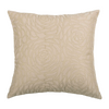 Cream Embroidered Polyster Designer Cushion Cover | Onset Designs