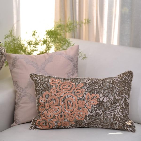 Set of 2 Powder blush Cushion cover