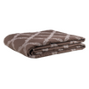 Textured Grill/Brown: Embroidered and quilted cotton bed cover