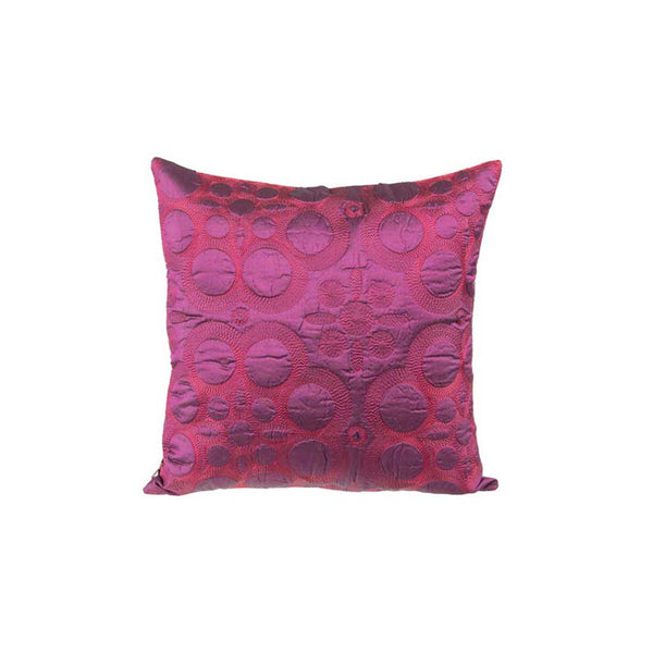 "Latika/ Exotic Purple: Silk quilted cushion cover (12"" x 12"")"