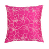 "Merrell/ Garnet: Hand embroidered silk cushion cover (16"" x 16"")"