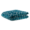 "Metallic Grill/ Empress Teal: Embroidered and quilted  velvet bed cover (96"" x 108"")"