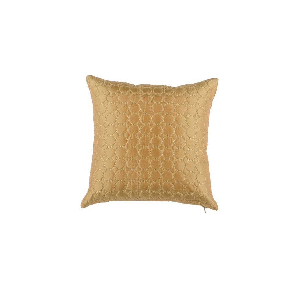 Gold Silk Designer Cushion Cover | Onset Designs