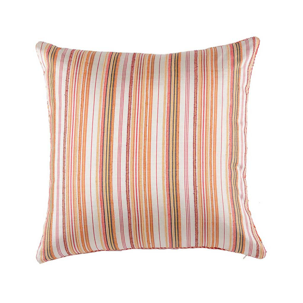 Multicolor Silk Textured Designer Cushion Cover | Onset Designs