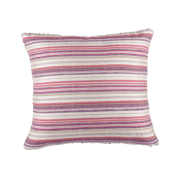 Purple Silk Textured Designer Cushion Cover | Onset Designs
