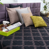 "Textured Grill/Black: Embroidered and quilted cotton bed cover (96""*108"")"