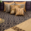Chocolate Brown velvet Embroidered Designer Bed Cover/Onset Design