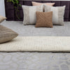 Grey velvet Embroidered Designer Bed Cover/Onset Design