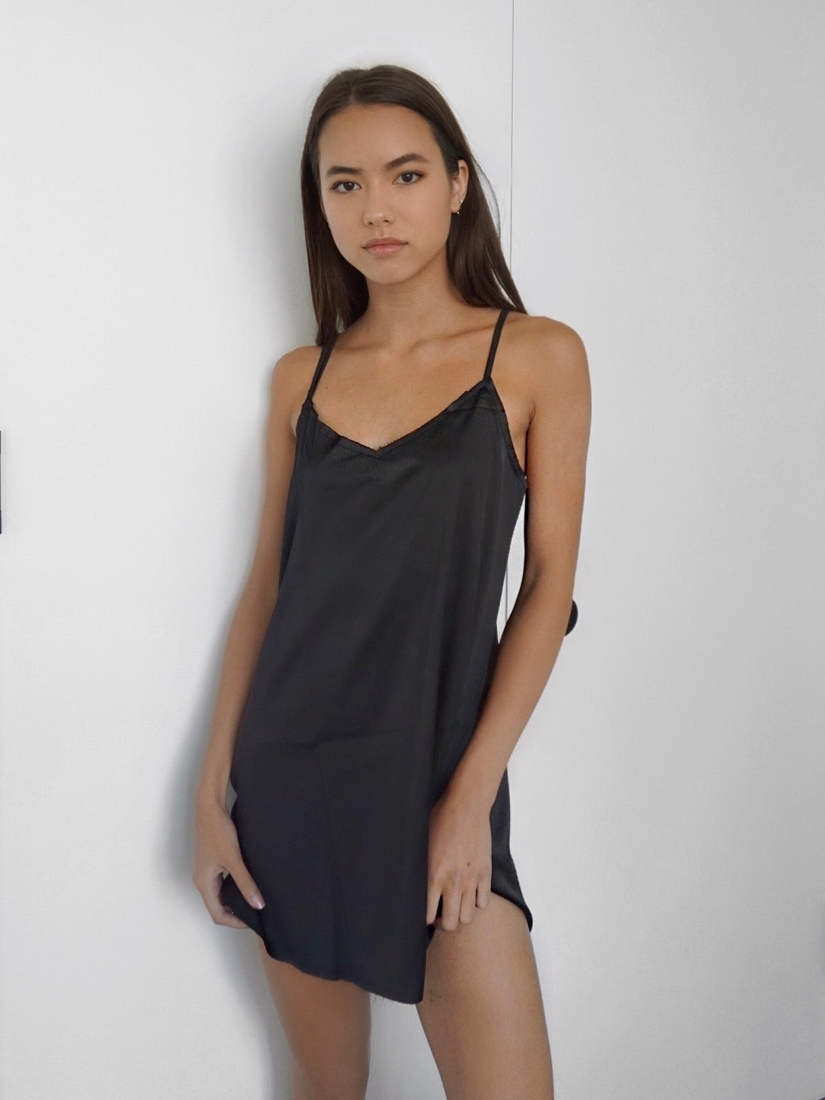 AMELIE SATIN SLIP DRESS