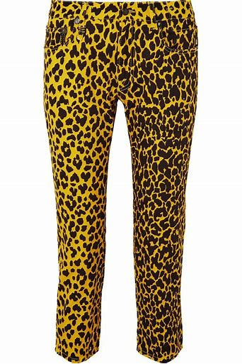 R13 Yellow Leopard The Joey Jeans size 27