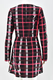 Kenzo Neon Plaid Double Twill Dress size 38