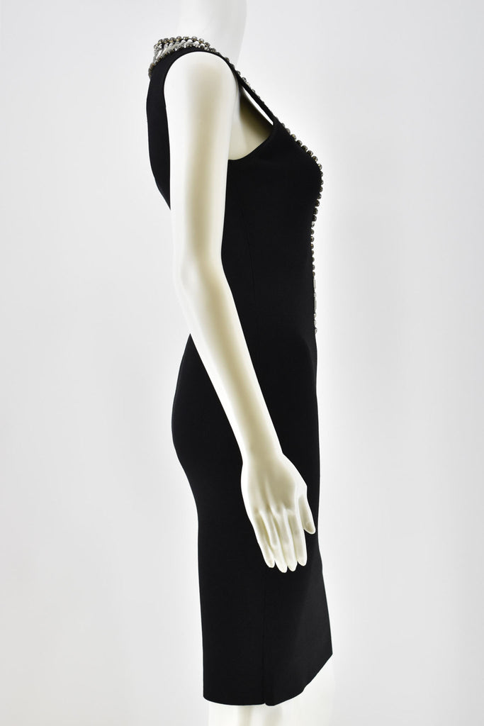 Givenchy Black Dress w/ Beaded Embellishment Small