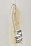 MSGM Sleeveless Cream Embroided Bead Shift Dress size 42
