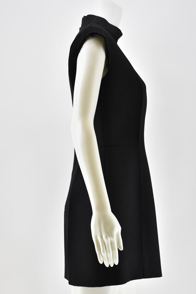 Maison Margiela Gaberdine Fitted Black Dress size 44