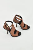 Balenciaga Brown Cut-Out Glove Sandal Heels 37