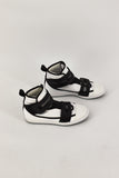 Adidas by Stella McCartney White & Black Velcro Strap Sneakers size US 5.5